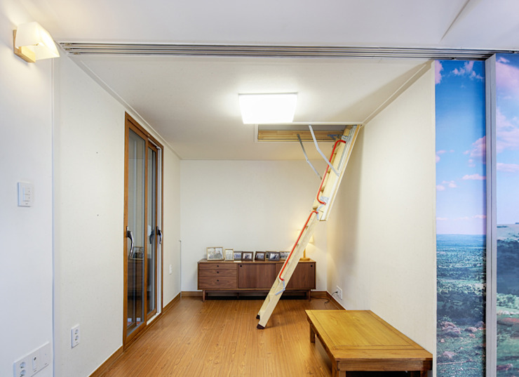 제기동 미니멀 한옥 아시아스타일 거실 by 주식회사 착한공간연구소 한옥