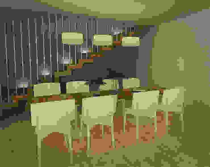 Casa JJ Comedores modernos de CRea - Arquitectura + Diseño Moderno Madera Acabado en madera