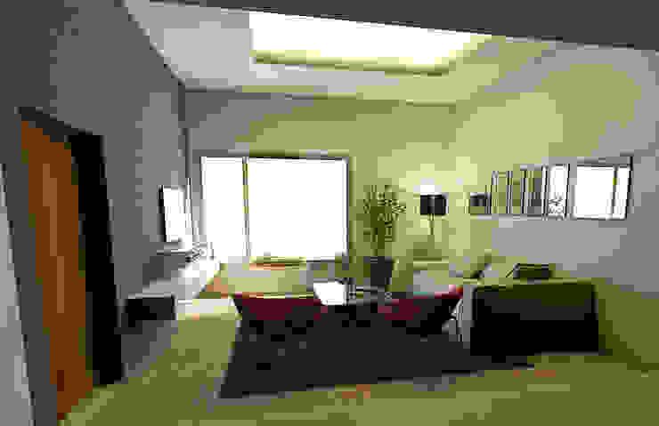 Casa JJ Livings modernos: Ideas, imágenes y decoración de CRea - Arquitectura + Diseño Moderno Madera Acabado en madera
