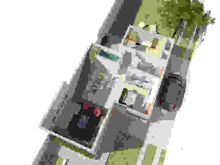Axonometrica Planta baja de CRea - Arquitectura + Diseño Moderno