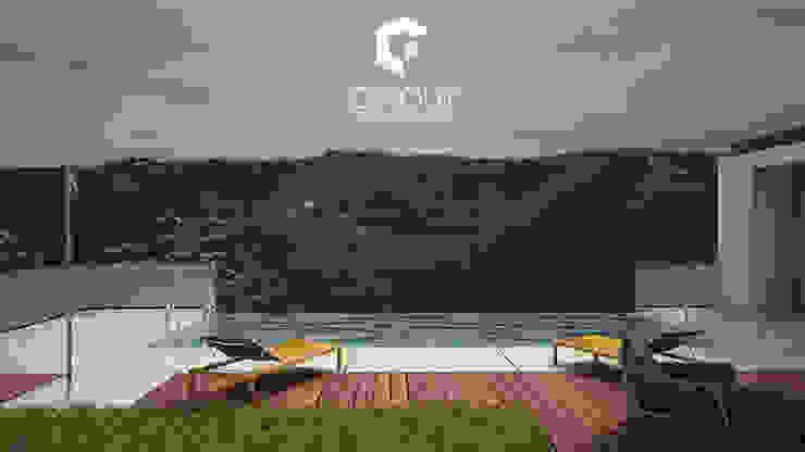 Moradia em Construção Casas modernas por CINOUT - Obras, Design e Manutenção Lda. Moderno