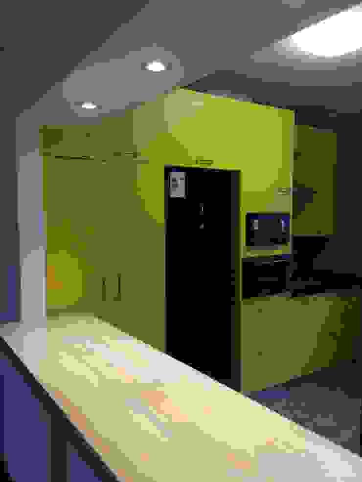 cocina americana PICHARA + RIOS arquitectos Muebles de cocinas Derivados de madera Amarillo