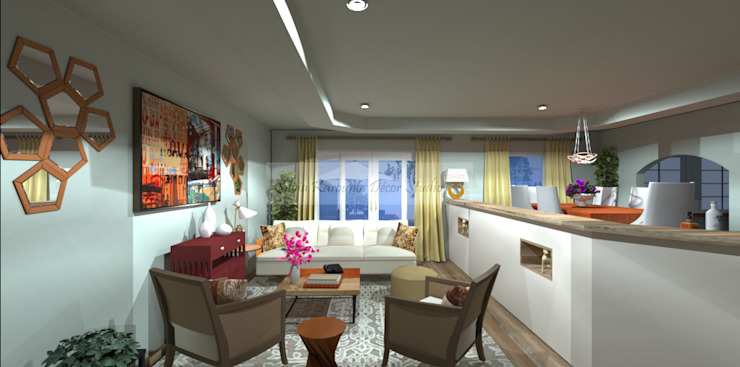 Living and Dining room by SilviaKarounos Decor Studio Classic