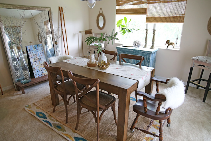 Eclectic vintage dining room Eclectic style dining room by SilviaKarounos Decor Studio Eclectic