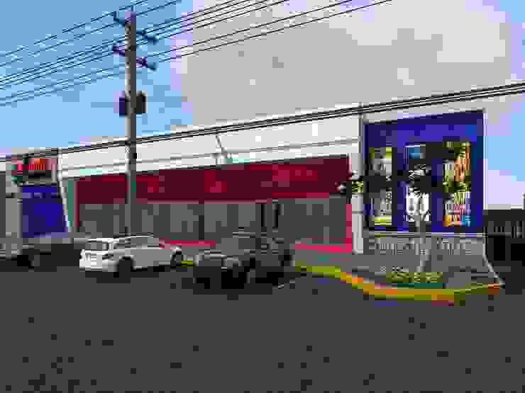 Propuesta 2 Fachada Centros comerciales de estilo moderno de HC Arquitecto Moderno