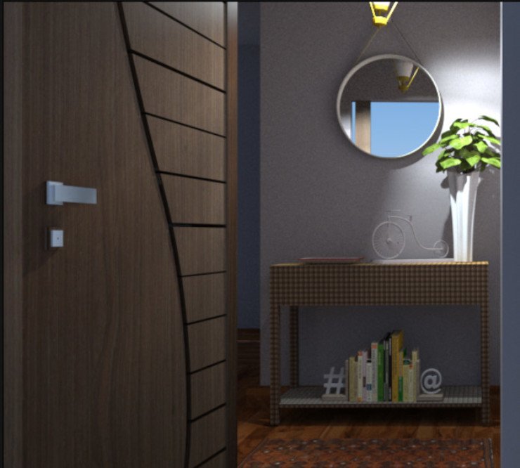 Modern Living and Dining room Modern Corridor, Hallway and Staircase by SilviaKarounos Decor Studio Modern