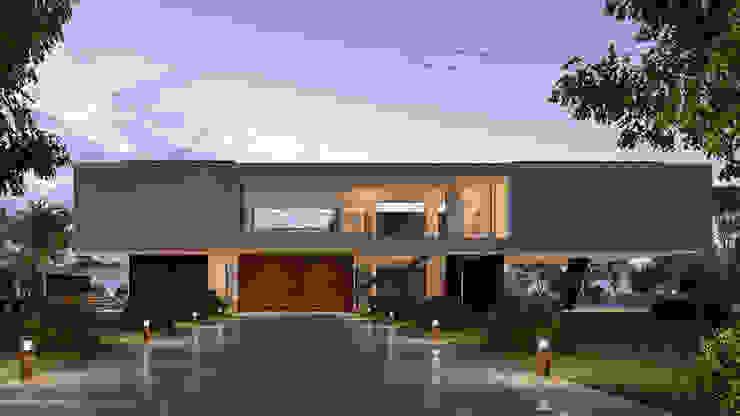 CASA MS1 - Moradia no Belas Clube de Campo - Projeto de Arquitetura - entrada por Traçado Regulador. Lda Moderno Pedra