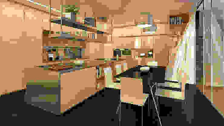 CASA MS1 - Moradia no Belas Clube de Campo - Projeto de Arquitetura - cozinha Cozinhas modernas por Traçado Regulador. Lda Moderno Pedra