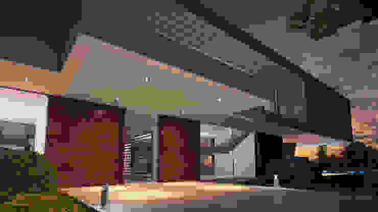 CASA MS1 - Moradia no Belas Clube de Campo - Projeto de Arquitetura - entrada por Traçado Regulador. Lda Moderno Madeira Acabamento em madeira