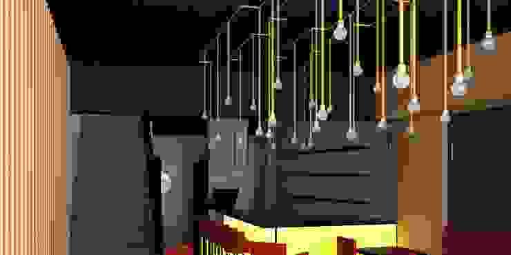 Remodelación de Restaurante de Sushi en Santiago de Chile, por DAMRA de DIEGO ALARCÓN & MANUEL RUBIO ARQUITECTOS LIMITADA Moderno