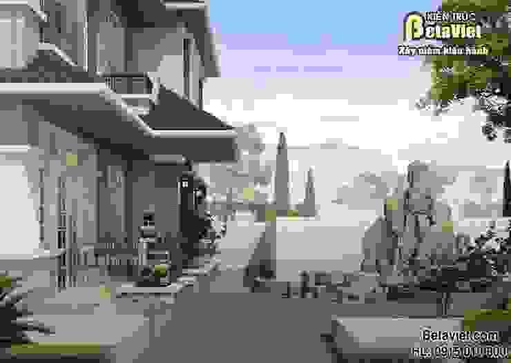 Phối cảnh mẫu nhà biệt thự đẹp 2,5 tầng Hiện đại (CĐT: Ông Đông – Hải Phòng) BT14454 bởi Công Ty CP Kiến Trúc và Xây Dựng Betaviet