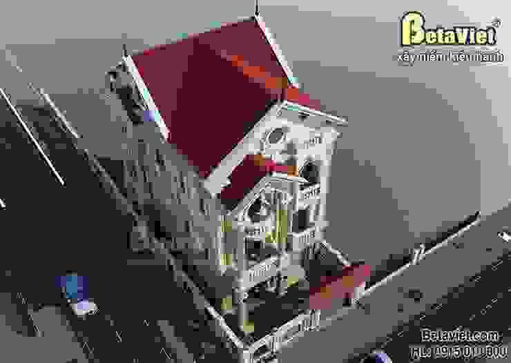 Phối cảnh mẫu biệt thự đẹp 3 tầng cổ điển BT15060 bởi Công Ty CP Kiến Trúc và Xây Dựng Betaviet