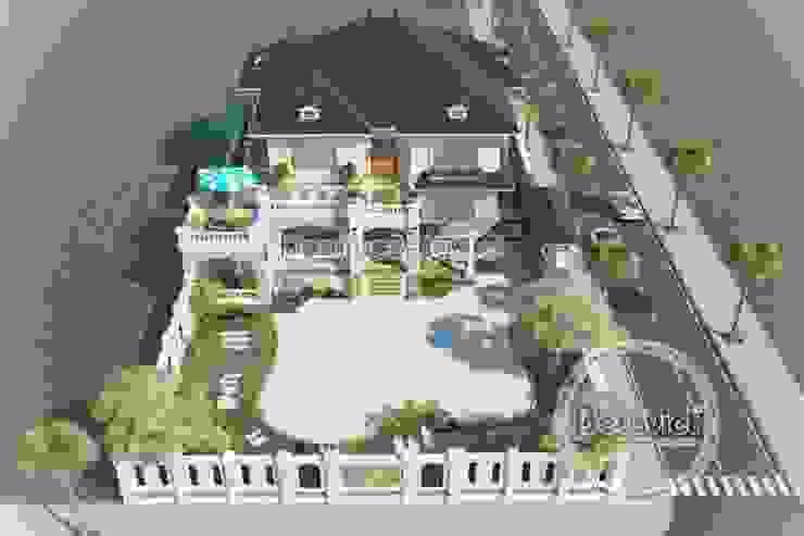 Phối cảnh thiết kế biệt thự nhà vườn 2 tầng Hiện đại KT16082 bởi Công Ty CP Kiến Trúc và Xây Dựng Betaviet