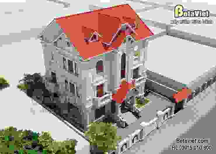 Phối cảnh mẫu biệt thự nhà đẹp 3 tầng Cổ điển BT14526 bởi Công Ty CP Kiến Trúc và Xây Dựng Betaviet