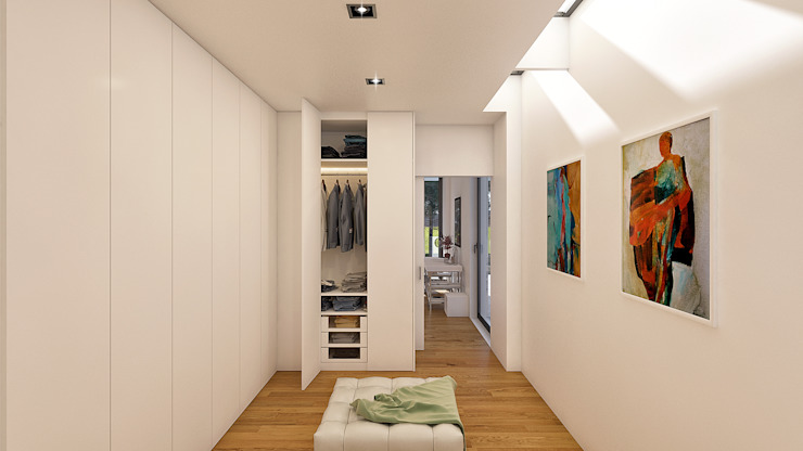 Modern dressing room by Traçado Regulador. Lda Modern Wood Wood effect
