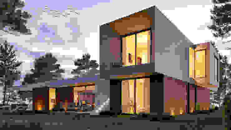 Многоквартирные дома в . Автор – Traçado Regulador. Lda, Модерн Бетон