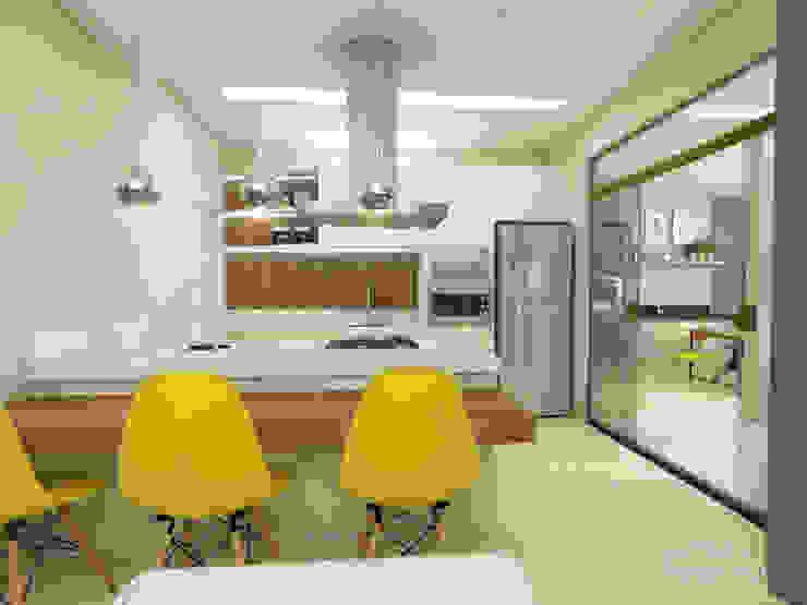 Residência PC: Cozinhas  por Juliana Azanha | Arquitetura e Interiores,