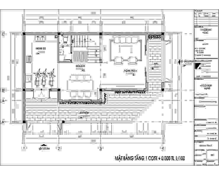 NHÀ PHỐ ANH DOANH: hiện đại  by Kiến trúc Việt Xanh, Hiện đại