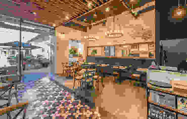 Pomeriggio Mozzarella Bar Interior de Zoffoli Arquitectura Rústico Mármol