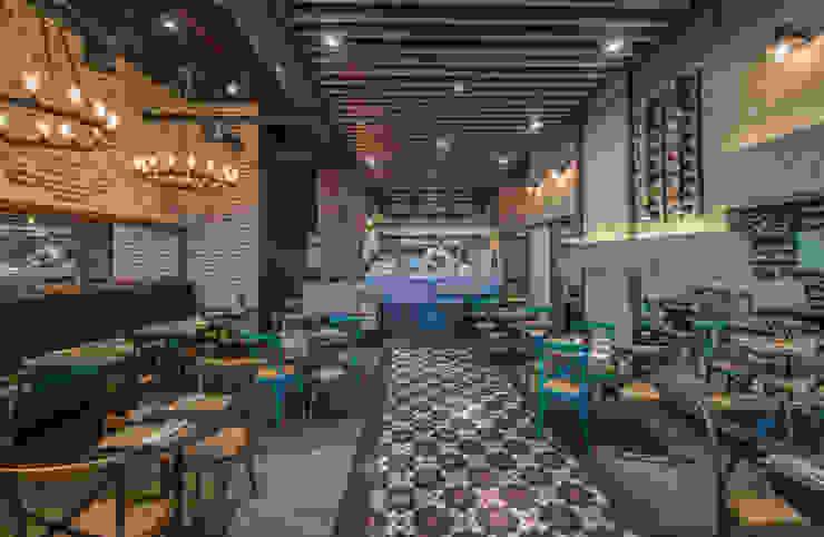 Pomeriggio Mozzarella Bar Interior de Zoffoli Arquitectura Rústico