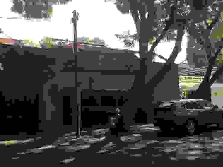 AWA arquitectos Rumah Modern Batu Bata Blue