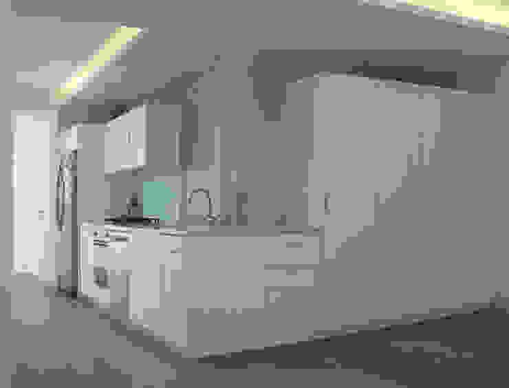 Cocina / Sala: Cocinas de estilo  por AWA arquitectos,