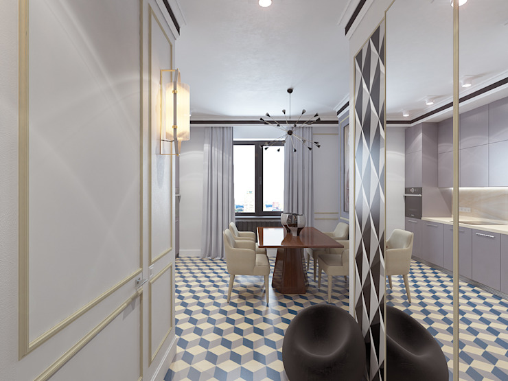 Modern Corridor, Hallway and Staircase by Студия дизайна и визуализации интерьеров Ивановой Натальи. Modern