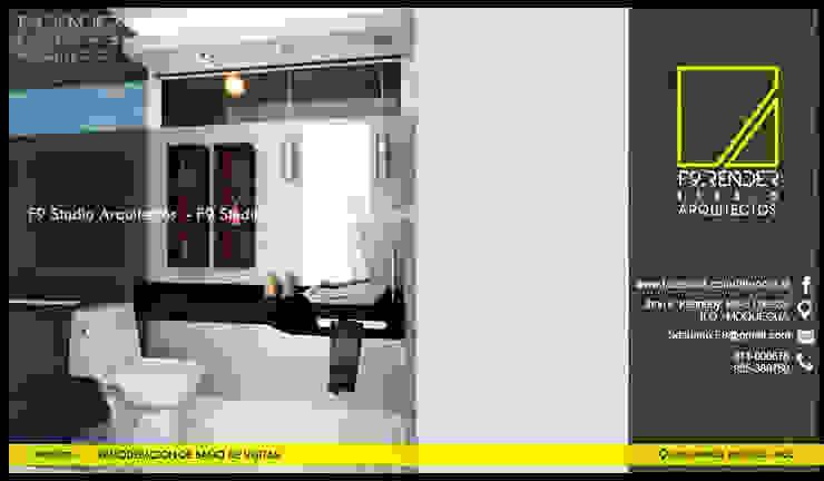 Vista de Baño de Visitas Baños modernos de F9.studio Arquitectos Moderno Granito