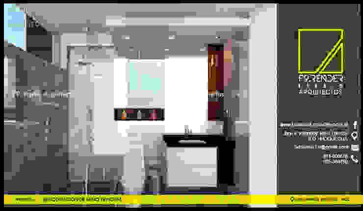 Vista frontal de Baño Principal Baños modernos de F9.studio Arquitectos Moderno Cerámico