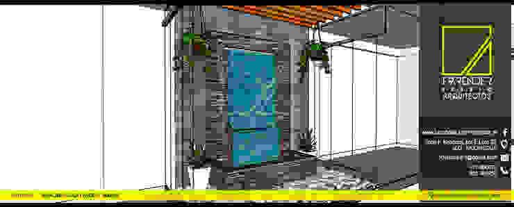 Vista de Muro LLoron de F9.studio Arquitectos Moderno Piedra
