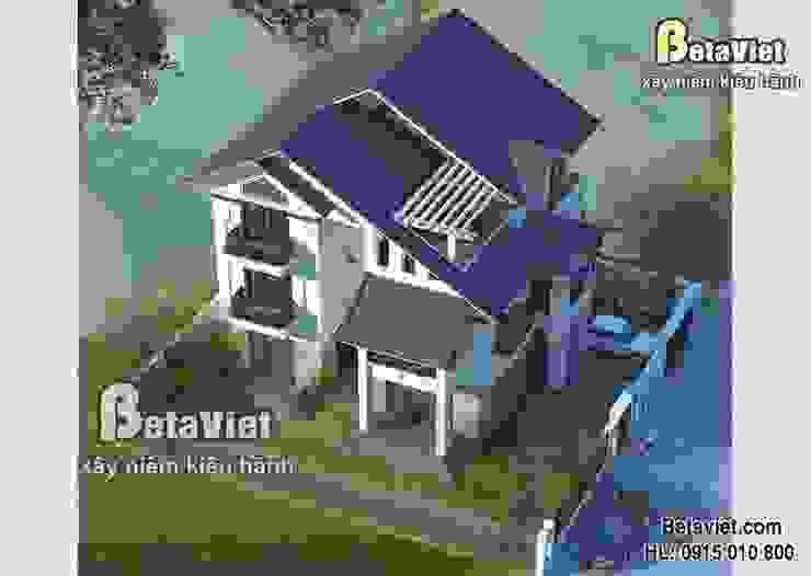 Phối cảnh mẫu biệt thự 3 tầng Hiện đại BT14517 bởi Công Ty CP Kiến Trúc và Xây Dựng Betaviet