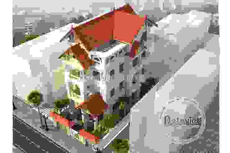 Phối cảnh thiết kế biệt thự đẹp 4 tầng Cổ điển KT16071 bởi Công Ty CP Kiến Trúc và Xây Dựng Betaviet