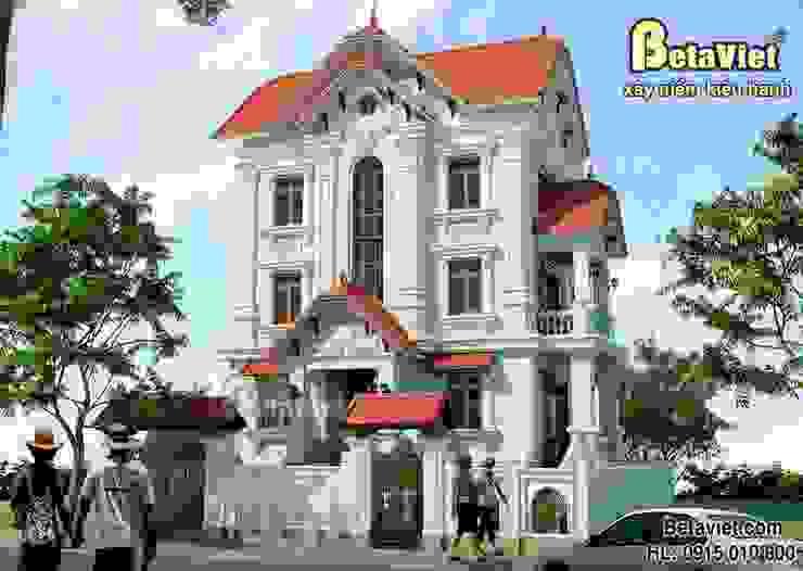 Phối cảnh mẫu nhà biệt thự đẹp 3 tầng Cổ điển BT13375 bởi Công Ty CP Kiến Trúc và Xây Dựng Betaviet
