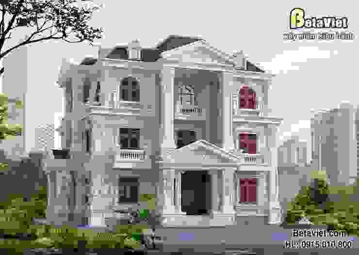 Phối cảnh mẫu nhà biệt thự đẹp 3 tầng Cổ điển BT15005 bởi Công Ty CP Kiến Trúc và Xây Dựng Betaviet
