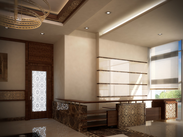 Lobby by SPACES Architects Planners Engineers Mediterranean