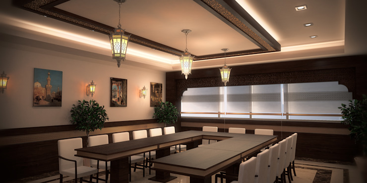 Meeting Area by SPACES Architects Planners Engineers Mediterranean