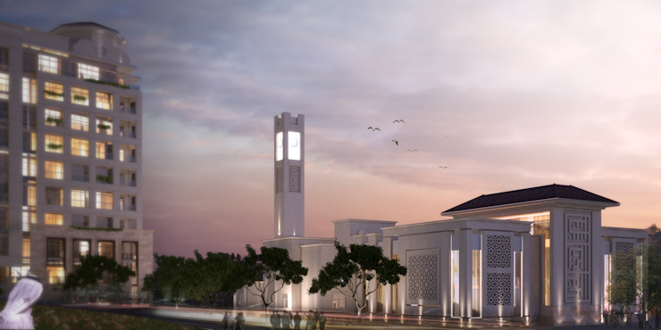Mosque Modern Houses by SPACES Architects Planners Engineers Modern