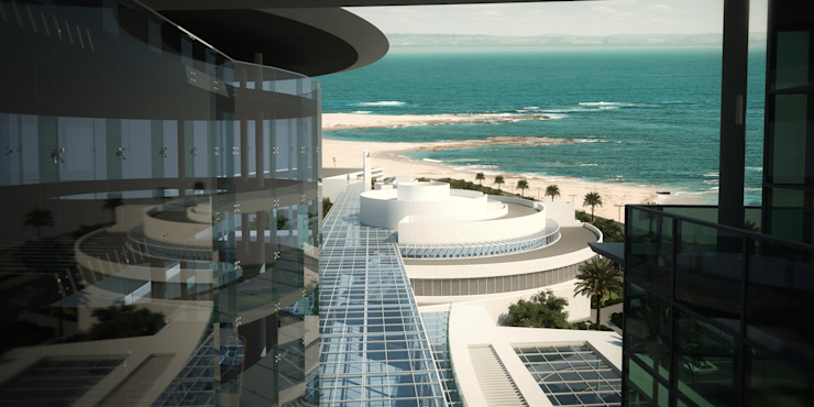 Sea View from VIP Patient Floor by SPACES Architects Planners Engineers Modern