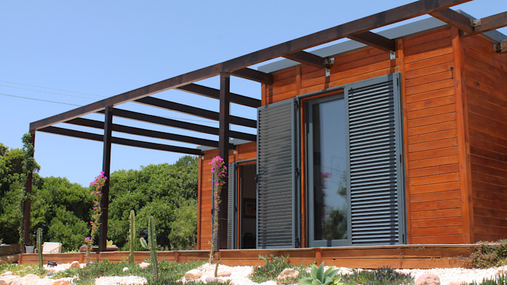 Discovercasa | Casas de Madeira & Modulares Casas de madera Madera Marrón