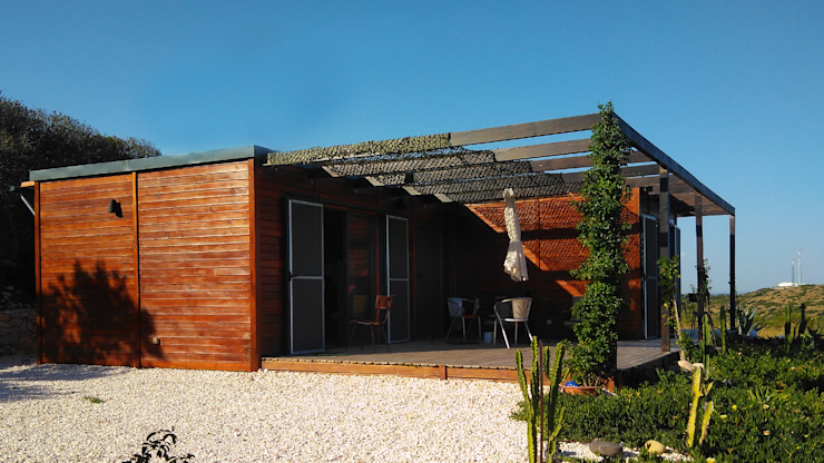 Discovercasa | Casas de Madeira & Modulares Prefabricated home Wood Brown
