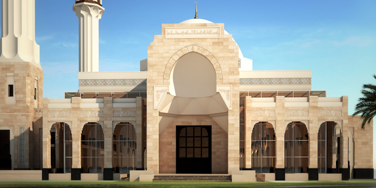 Entrance by SPACES Architects Planners Engineers Mediterranean