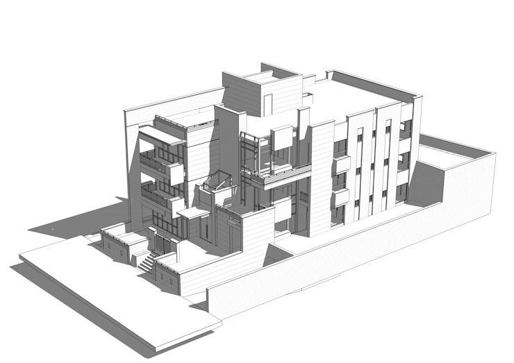 3d shots Modern Houses by SPACES Architects Planners Engineers Modern