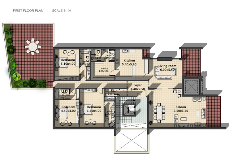 Plans Modern Walls and Floors by SPACES Architects Planners Engineers Modern