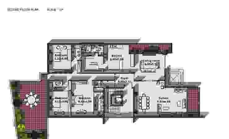 Akram Junaildi Villa - Amman, Jordan Modern Walls and Floors by SPACES Architects Planners Engineers Modern