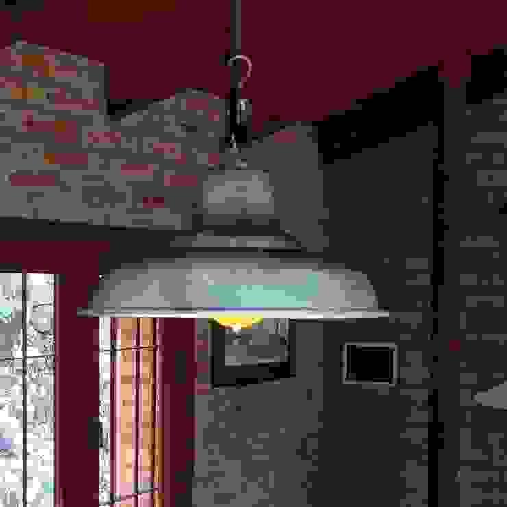 Lamparas Vintage Vieja Eddie Living roomLighting Aluminium/Zinc Turquoise
