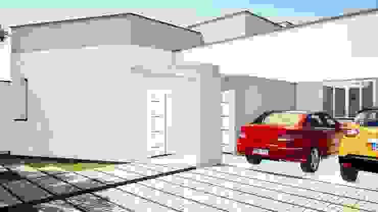 Arantes Arquitetura Minimalist house Bricks White