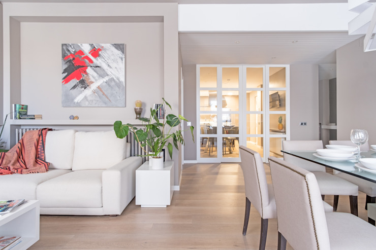 Luzestudio - Fotografía de arquitectura e interiores Salas de estar modernas