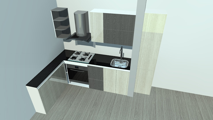 Cocinas integrales, personalizadas a tu gusto de Ambiente Records Minimalista Madera Acabado en madera