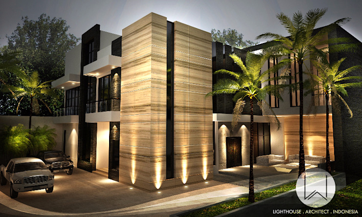 Moderne huizen van Lighthouse Architect Indonesia Modern