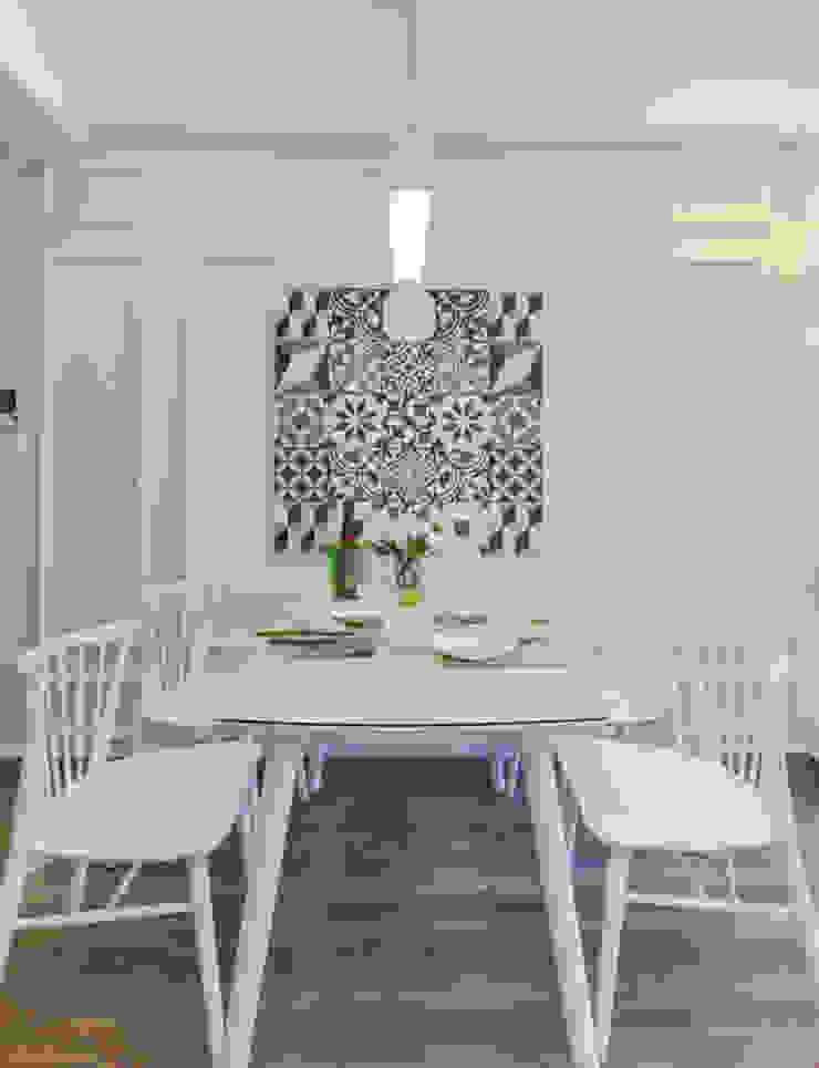 Căn Hộ 65m2 Nhỏ Đẹp Nhờ Thiết Kế Nội Thất Thông Minh Phòng ăn phong cách hiện đại bởi Công ty TNHH Xây Dựng TM – DV Song Phát Hiện đại